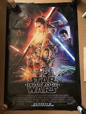 "Star Wars The Force Awakens Official One Sheet Cinema Poster 27 X 40"" Nr Mint"
