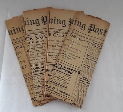 4 X WW2 Jersey Evening Post NEWSPAPERS 1942-43 RAF BOMBER COMMAND INTEREST