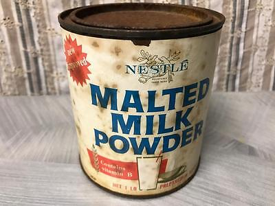 Old Vintage Australian Nestle Malted Milk Powder Dairy Tin Paper Label Country
