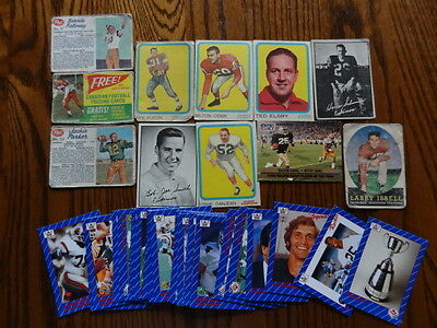 Canadian Football League-CFL 40 Card Lot -1950's to 1990's-Jackson Parker + more