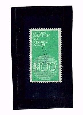 Victoria Revenue Stamp Duty $100