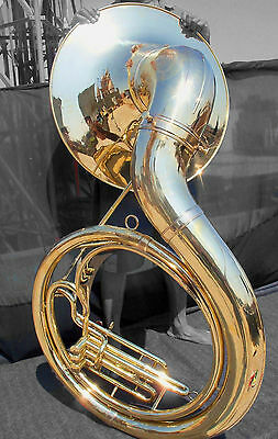JUMBO BBb SOUSAPHONE CLASSIC BRITISH BESSON DESIGN. NATURAL BRASS FINISH. 2017