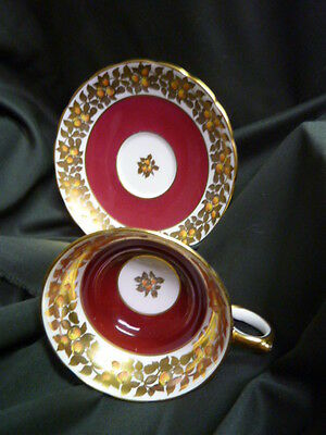 Grosvenor Cup and Saucer with Gold Accent, Bone China, England