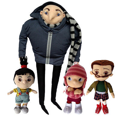 4X Despicable Me Character Plush Toy Gru & Orphan Girls Margo Edith Agnes Family