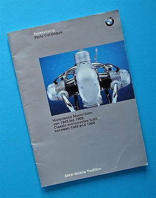 1948-69 BMW Motorcycle Parts Catalog Manual Book R24 R27 R51 R67 R68 R50 R60 R69