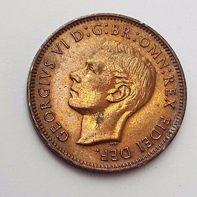 Dated : 1950 - Copper - One Farthing - Coin - King George VI - Great Britain