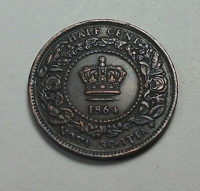 1864-Canada-Nova-Scotia-1-2-Half-Cent-Coin