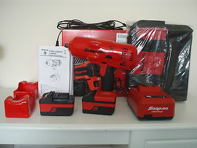"""Snapon 18v 1/2"""" Monster Lithium Cordless IMPACT Wrench 2017 Extreme Red Full Kit"""