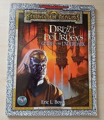 Drizzt Do'Urden's Guide to the UnderDark incl Map (dungeons and dragons TSR)