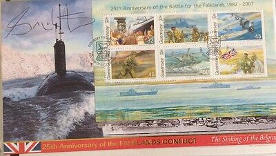 Falklands War 25Th Anniversary 'sinking Of The Belgrano' Fdc. 2007 . Signed