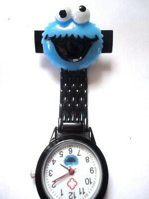 Cookie Monster Nurse Watch Picture Dial Black Watch White Dial Carer Student Vet
