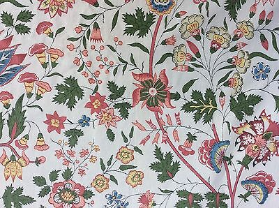 Vintage Retro Sanderson Cotton curtain upholstery fabric design 60cm x 135cm