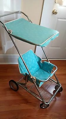 Vintage 1950s Peterson Fold-A-Rola Baby Stroller