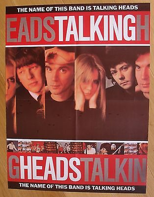TALKING HEADS vintage poster  the name of this band is