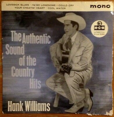 Hank Williams The Authentic sound Of The Country Hits vinyl 7 inch EP, 1959