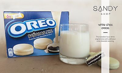 OREO Choc White - Chocolate covered cookies - Made in Spain -246g