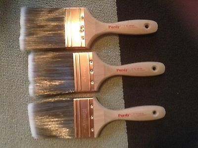 "Lot of 3 XL SWAN - 3"" Purdy Paint Brushs - New never used"