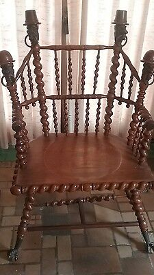 Merklen Brothers Antique Chair and Table