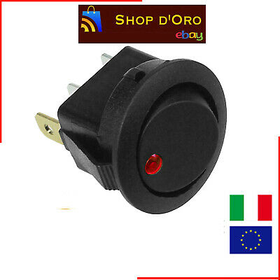 Interruttore Con Led Rosso 16A 12V Switch 10025