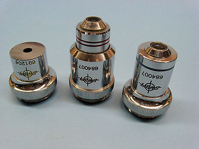 Set of 3 SWIFT Microscope Objectives.......Made in Japan