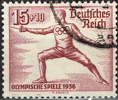 Germany Third Reich Berlin Summer Olympic Games stamp 1936 Fencing