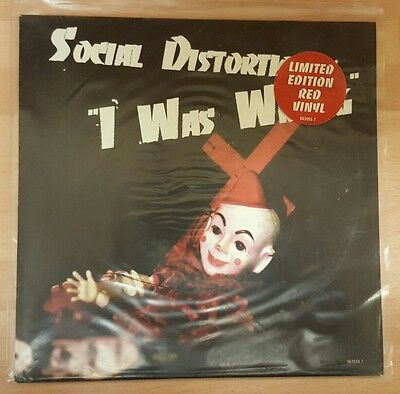 "Social Distortion 'i Was Wrong' - 7"" Red Vinyl Single"