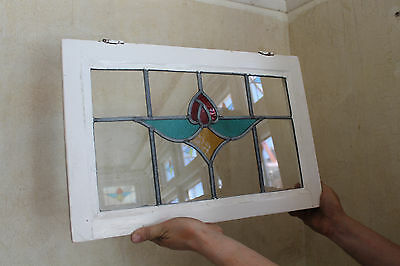 Set of art deco 1930s stained glass windows