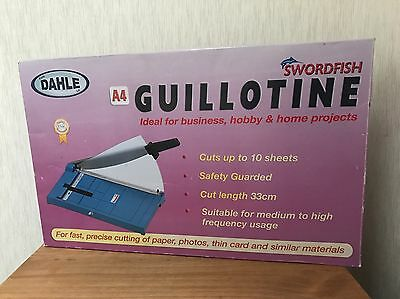 Swordfish A4 Dahle Guillotine Paper Cutter New In Box
