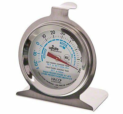 """Update International (THRE-20) 2"""" Refrigerator Thermometer...New, Free Shipping"""