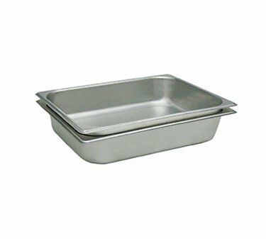 2 x Update International STP-502 Steam Table Pan, Half Size...New, Free Shipping