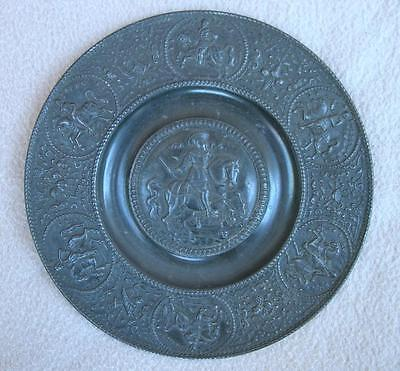Antique Royalty King Gustav Adolf Ii Sweden Pewter Dish 17 Cen German Nurnberg