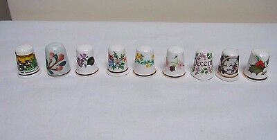 9 China Thimbles Fenton St Michael Birchcroft Floral Christmas Anne Hathaway