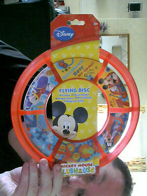 Disney Mickey Mouse Frisbee (Space Disc)  Great Gift! Summer Fun & Exercise