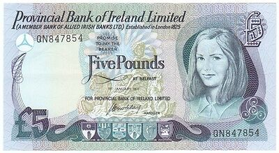 Provincial Bank Of Ireland Ltd. £5 Dated 1977, About Uncirculated