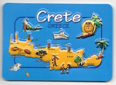 Greece Souvenir Fridge Magnet - Crete 9.5cm X 6.5cm