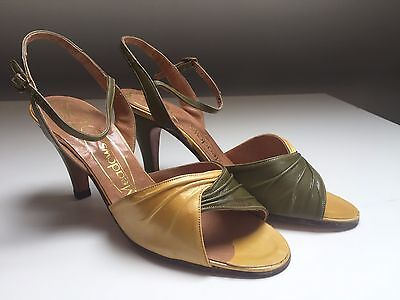 Beautiful New Ladies Vintage 1970/80's Green Shoes  choice Size 4