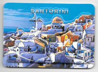 Greece Souvenir Fridge Magnet - Santorini 9.5cm X 6.5cm