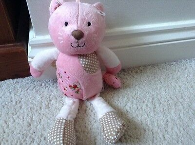 Bnwt Mothercare Pink Vintage Kitten Cat Baby Soft Toy Comforter Hug New
