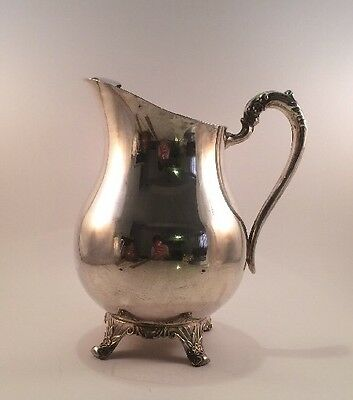 LAST LISTING Vintage F.B. Rogers Silver Plate Water Ice Pitcher