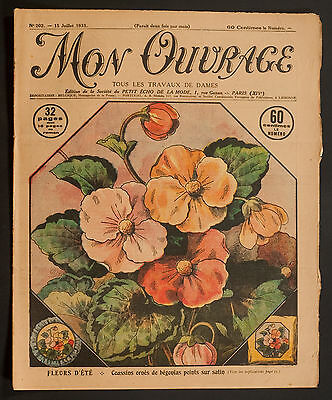 'mon Ouvrage' French Vintage Newspaper 15 July 1931