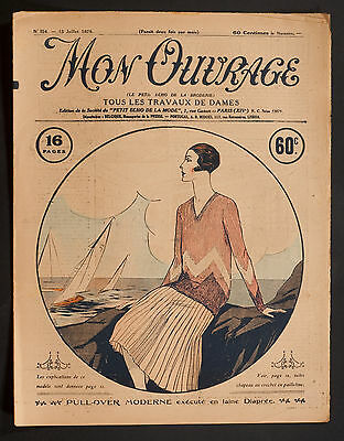 'mon Ouvrage' French Vintage Newspaper 15 July 1929