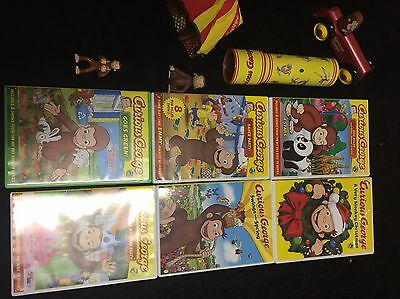 CURIOUS GEORGE ASSORTED COLLECTIBLE ITEMS DVD LOT Of 10