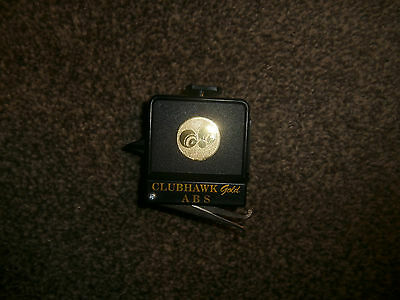 A Black Clubhawk Gold ABS Bowls Tape Measure