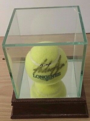 Andre Agassi Signed Tennis Ball In Glass/Mirror Case