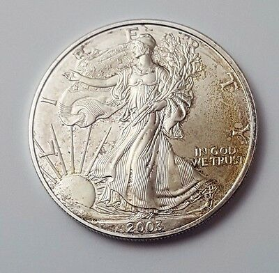 U.s.a - Dated 2003 - Silver - Eagle - $1 One Dollar Coin - American Silver Coin