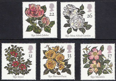 Sg1568-1572 1991 Roses ~ Unmounted Mint Gb