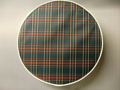 Green Tartan/White Boarder Scooter Wheel Cover