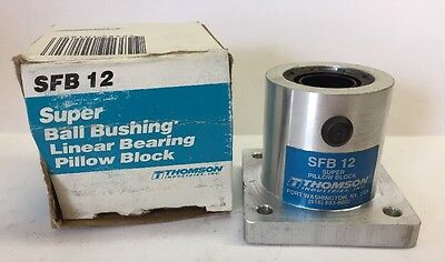 New Thomson SFB-12 Linear Guide Round Shaft Housed Bushing Bearing Pillow Block