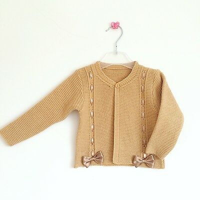 Baby Girls Spanish Knitted Bow Cardigan