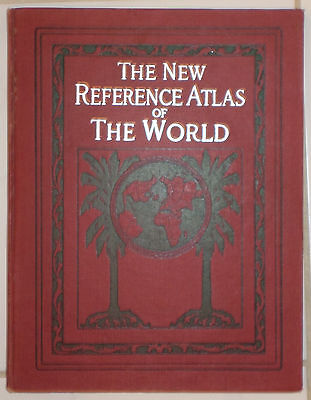 The New Reference Atlas of the World; Colorful Maps - 1919